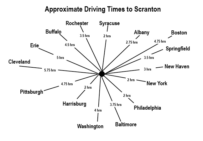 map to scranton